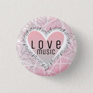 Love music! pinback button