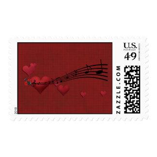 Love music postage stamp