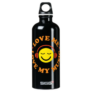 Love music smiley with headphones SIGG traveler 0.6L water bottle