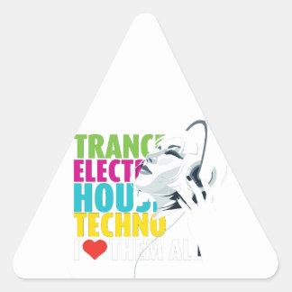 Love music triangle sticker