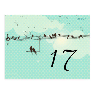 Love Music - table number card