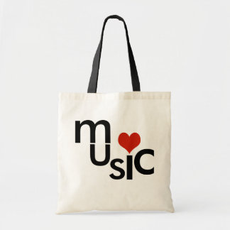love music-theme tote bag