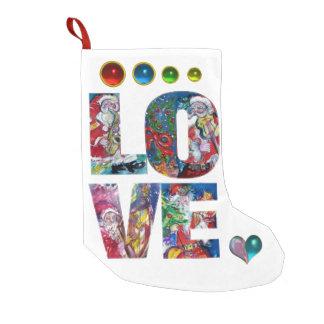 LOVE MUSICAL SANTA CHRISTMAS PARTY SMALL CHRISTMAS STOCKING