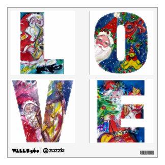 LOVE /  MUSICAL SANTA  XMAS PARTY WALL DECAL