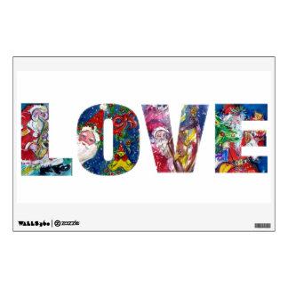 LOVE .  MUSICAL SANTA  XMAS PARTY WALL STICKER