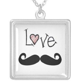 Love mustache Necklace