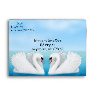 Love Mute Swans Envelope