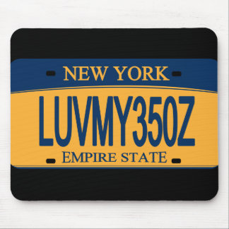 Love My 350Z NY License Plate Mousepad
