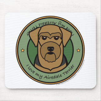 Love My Airedale Mouse Pad