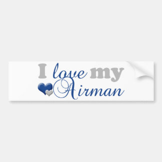 Love my Airman Bumper Sticker Car Bumper Sticker