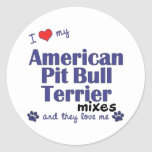 Love My Amer. Pit Bull Terrier Mixes (Multi Dogs) Stickers