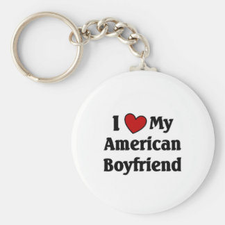 Love my American Boyfriend Keychain