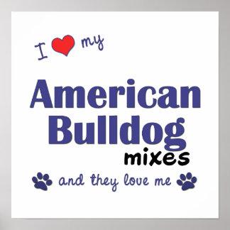 Love My American Bulldog Mixes (Multi Dogs) Poster