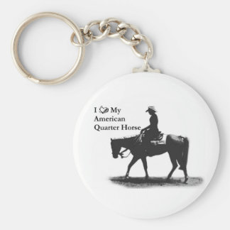 Love My American Quarter Horse keychain