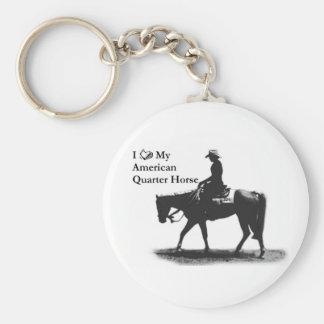 Love My American Quarter Horse keychain