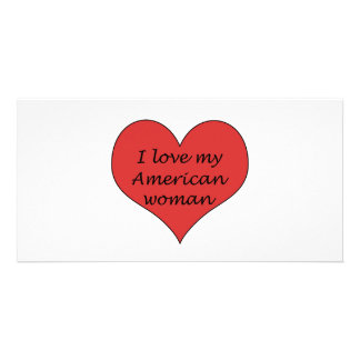 Love My American Woman Personalized Photo Card