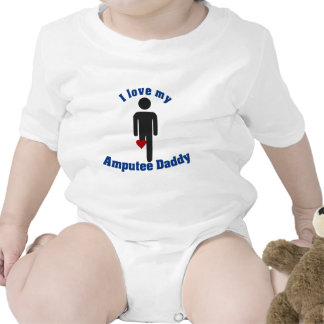 Love my Amputee Daddy Rompers