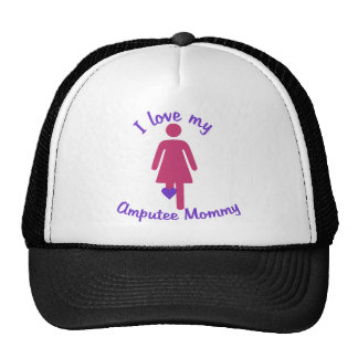 Love My Amputee Mommy Trucker Hats