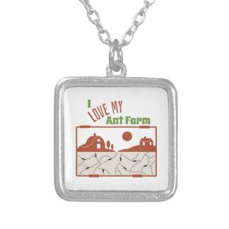 Love My Ant Farm Square Pendant Necklace