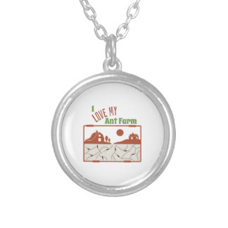 Love My Ant Farm Round Pendant Necklace