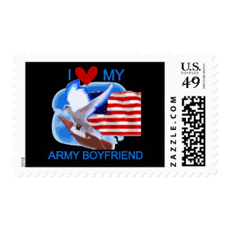 Love My Army Boyfriend Tshirts and Gifts Stamps