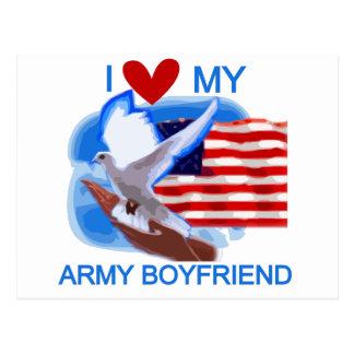 Love My Army Boyfriend Tshirts and Gifts Postcard