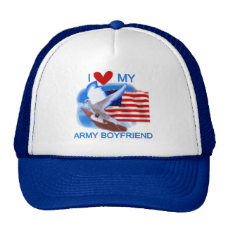 Love My Army Boyfriend Tshirts and Gifts Trucker Hat