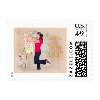 LOVE MY ART LOVE YOUR ART POSTAGE