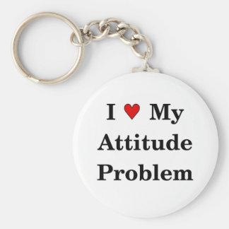 Love My Attitude Problem Keychain