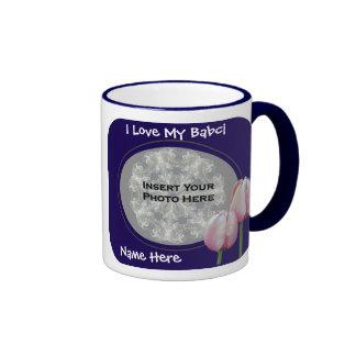 Love My Babci Pink Tulips Polish Grandmother Mug