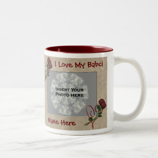 Love My Babci Roses Polish Grandmother Two-Tone Coffee Mug