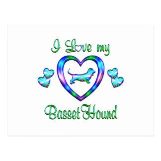 Love My Basset Hound Postcard
