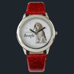 "Love My Beagle Watch<br><div class=""desc"">This watch is a fantastic gift for any Beagle lover.</div>"