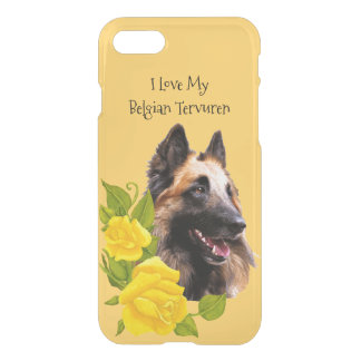 Love My Belgian Tervuren, Yellow Roses iPhone 7 Case