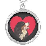 Love My Bernese Mountain Dog Pendant