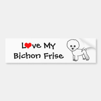Love My Bichon Frise Bumper Sticker