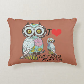Love my Big Sister Custom Cotton Accent Pillow