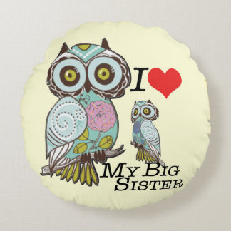 Love my-big Sister Polyester Round Throw Pillow