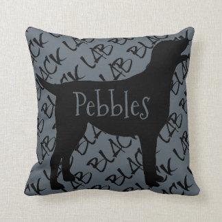 Love My Black Lab Dog Throw Pillow