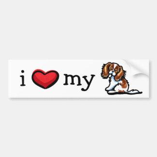 Love My Blenheim CKCS Car Bumper Sticker