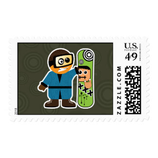 Love My Board Postage Stamp