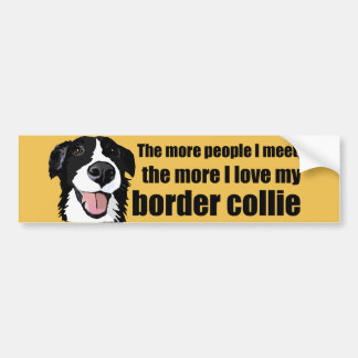 Love my border collie bumper sticker