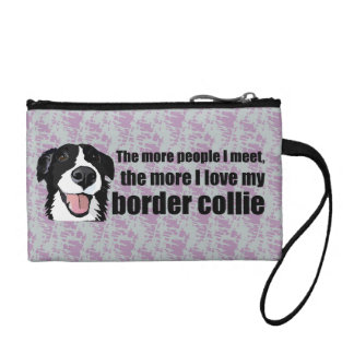 Love my border collie coin wallet