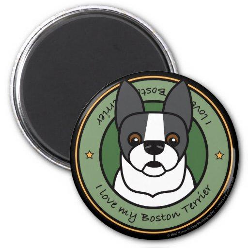 Love My Boston Terrier Fridge Magnets