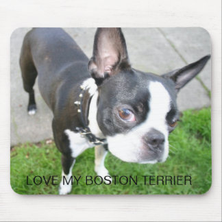 LOVE MY BOSTON TERRIER MOUSE PAD