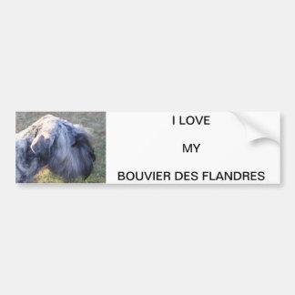 Love my Bouvier Bumper Sticker
