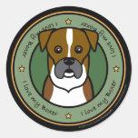 Love My Boxer Classic Round Sticker