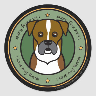 Love My Boxer Stickers