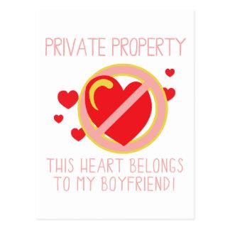 Love My Boyfriend Postcard
