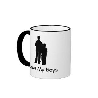 Love My Boys Ringer Coffee Mug